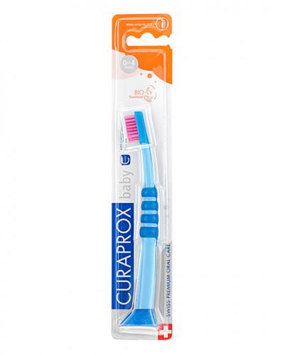 Escova de dentes para bebé azul-rosa