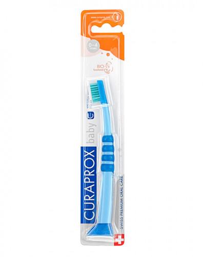 Escova de dentes para bebé azul-verde