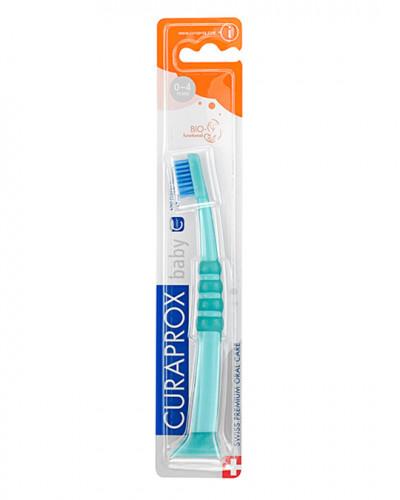 Escova de dentes para bebé verde-azul