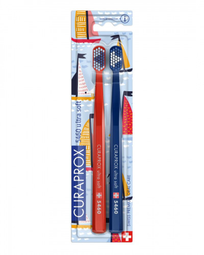 Escova de dentes CS 5460 Sailing Edition, Vermelho & Azul-Marinho, 2 pcs.