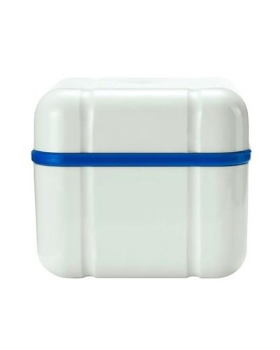 Caixa para limpeza de dentaduras azul